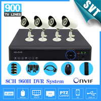 8ch CCTV System AHD L 960H DVR Kit For 900tvl Security Camera Kit HD 1080P AHD