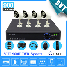 8ch CCTV System AHD-L 960H DVR Kit for 900tvl Security Camera Kit HD 1080P AHD 8ch video surveillance system for safety