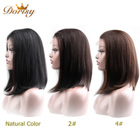 Lace Front Human Hair Wigs Human Hair Wigs Short Human Hair wigs Short Wigs Dorisy Non Remy Natural Color 2# 4# Straight Hair