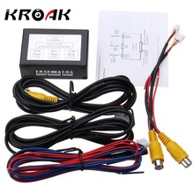 Car Parking Camera Video 2 Channel Converter Auto Switch Front /Side/Rearview Rear View Camera Video Control Box with Manual