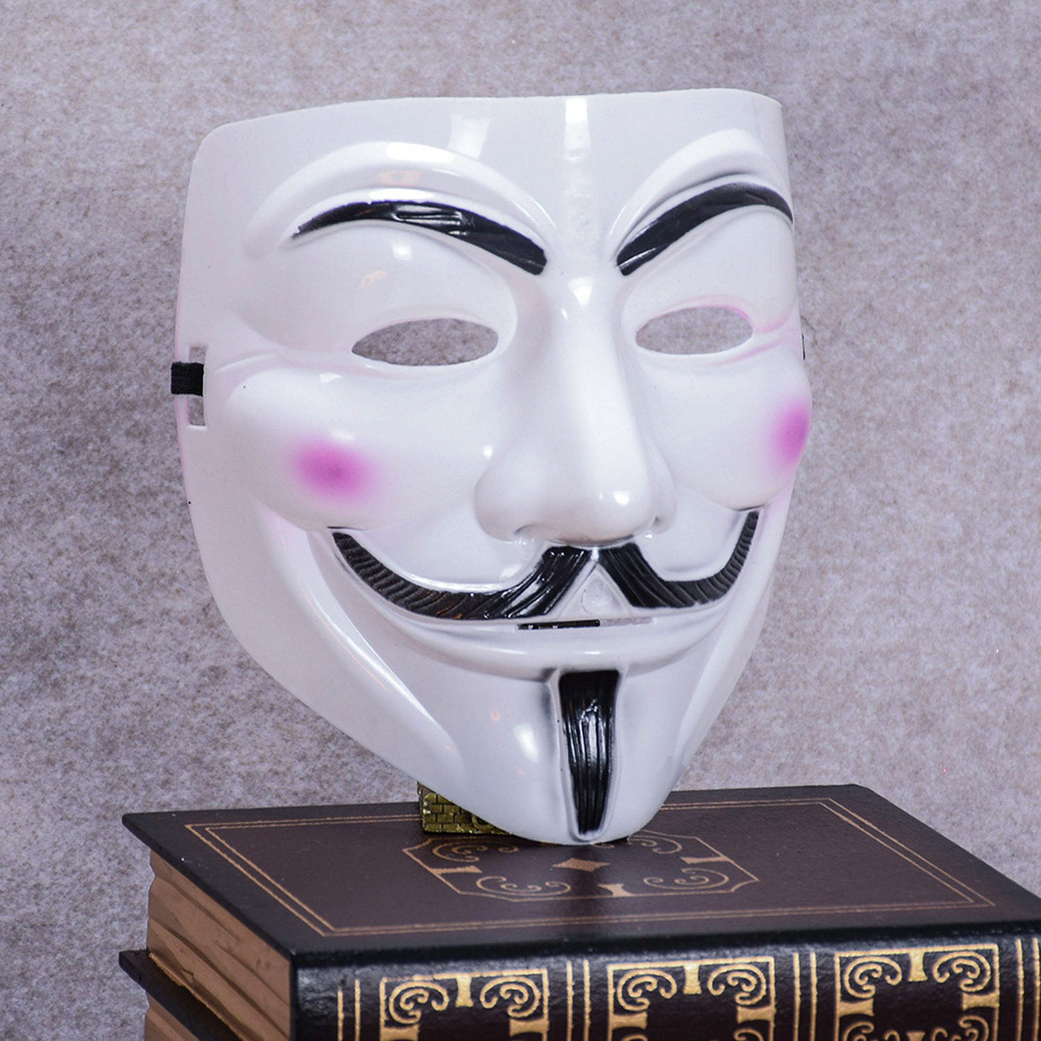 20 Lot Cosplay Mask V for Vendetta Mask Adult Costume Accessory Anonymous Movie Guy Fawke Halloween Masquerade Party Horror Mask