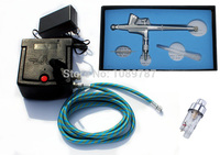 ABEST New 0.2MM Dual action airbrush compressor Complete kit for Tattoo hobby T shirt AC06 36EF