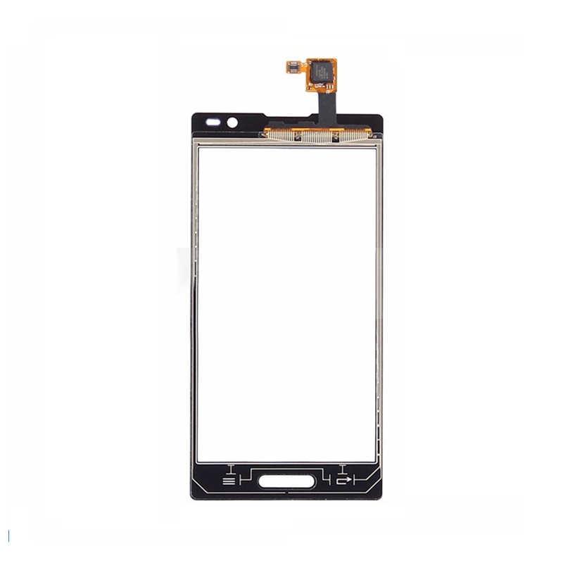 أسود/أبيض محول الأرقام بشاشة تعمل بلمس لوحة الاستشعار الزجاج/شاشة الكريستال السائل لوحة الشاشة وحدة رصد ل LG Optimus L9 P760
