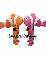Nemo clown fish maskotki kostium dla dorosłych hot postaci z znajdź nemo anime maskotki kostiumy karnawałowe fancy dress dla szkoły dorosłych
