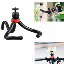 Flexible Octopus Tripod Travel Outdoor Mini Bracket Stand with Ball Head +Phone Holder for DSLR Camera Smartphone iPhone Xiaomi(China)