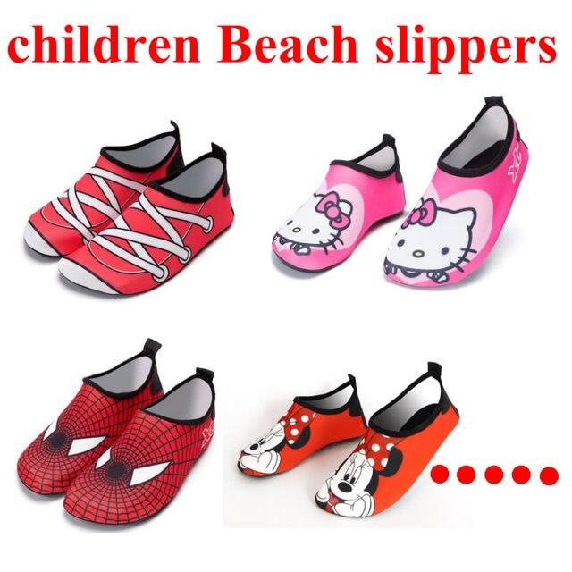 a2ecdb11b 2018 Kid secado rápido nadar agua calzado Casual zapatos descalzos ligeras Aqua  calcetines para la piscina