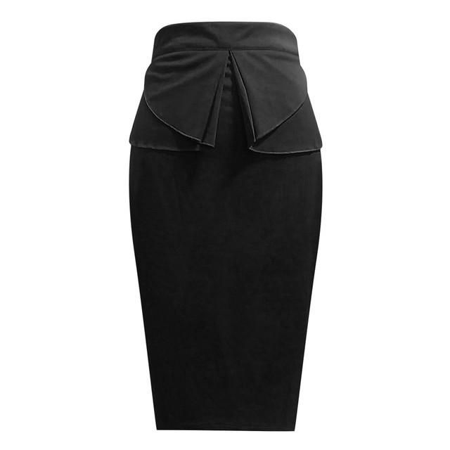 Jaycosin skirt ladies sexy solid color slim skirt summer casual street ladies Formal Dot Print Slim Fit Pencil Skirt