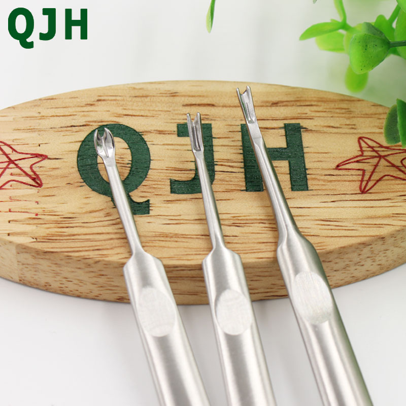 QJH brand 3pcs Leather Craft Tool Cut Off Thin Leather Knife quot U V quot style DIY Groover Skiving Tool Edge Beveler trenching device in Sewing Tools amp Accessory from Home amp Garden