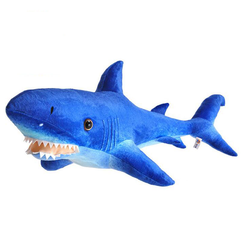 Soft 100cm Shark Toys Kawaii Simulation Shark Plush Toy Big White Shark Doll Pillow Aquarium Gift Whale Creative Doll big plush whale toy big head white foam dolphin doll pillow gift about 70cm