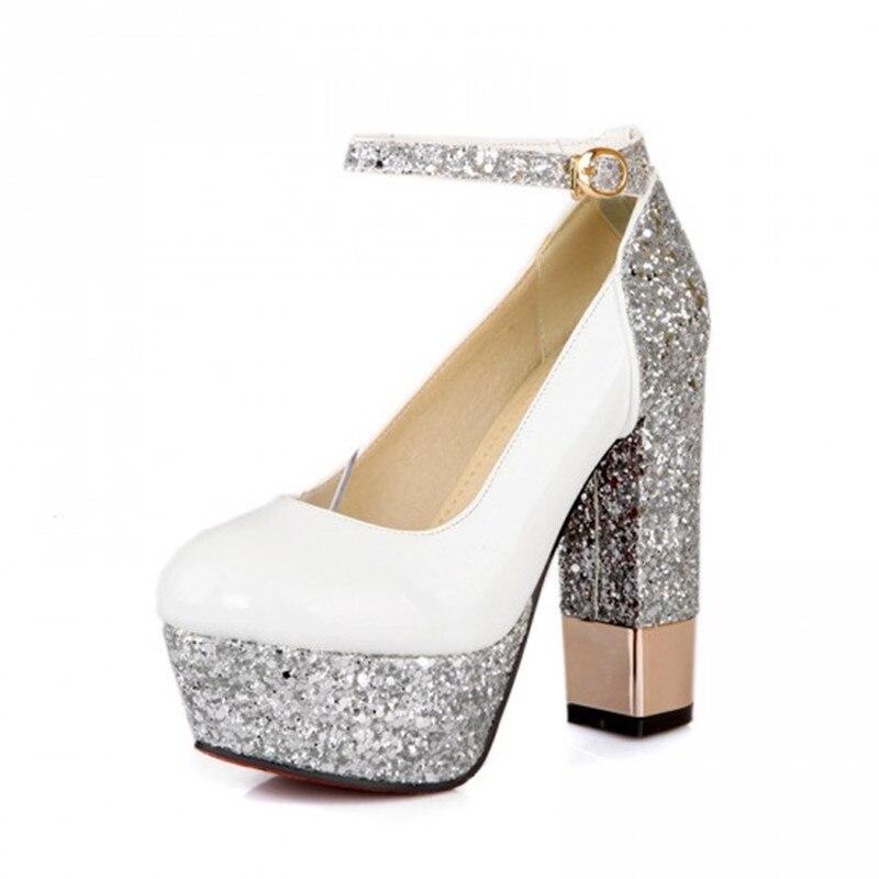 Mujeres Partido Tacones Zapatos Alto Cristal Tacón Delgado white Sexy  Brillo Moda Cuero Boda silver Black Fiesta Laca Bombas gold Altos Nueva  xw0ZtOqzx 8ceaa6bfa88e