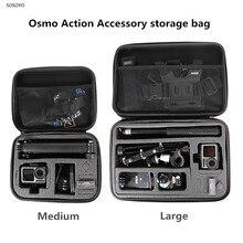 Osmo działania przenośna torba do przechowywania, odporna na wstrząsy futerał ochronny dla DJI Osmo mobile Action sport camera akcesoria