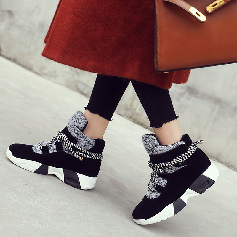 Prova Perfetto Autumn Winter Women Sneakers Casual Shoes Flats Shoes Woman Leather Suede Lace Up Boat Shoes Round Toe Flats Shoe