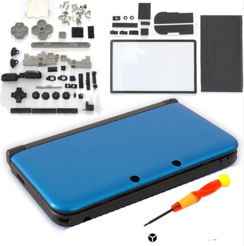 Full Housing Shell Case Cover Faceplate Set Repair Part Complete Fix Replacement free screwdriver for Nintendo 3DS 3DS XL
