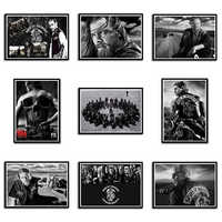 Sons of Anarchy Posters Movie Wall Stickers White cardboard Prints Clear Image Home Decoration Livingroom