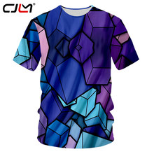 cbd8702cfb4db CJLM T-shirts Men Colorful Trangle 3d Funny Print Tshirt Casual Crewneck Hip  Hop Fashion Streetwear Outfits Summer Top Tee Shirt