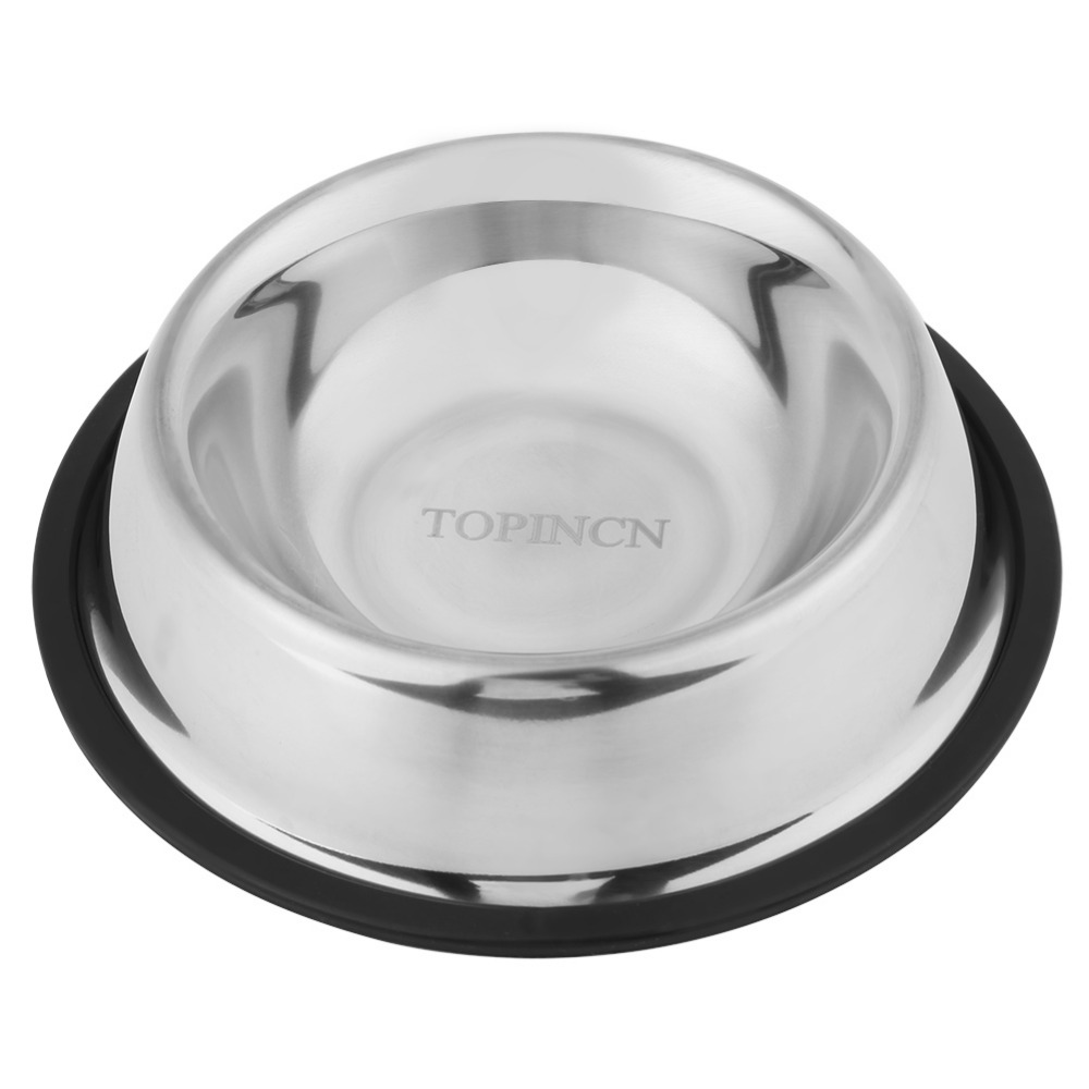 Durable Pet Dog Bowl Puppy Stainless Steel Travel Feed Food Water Dish Bowl For Small Dog Cats Puppy Outdoor Food