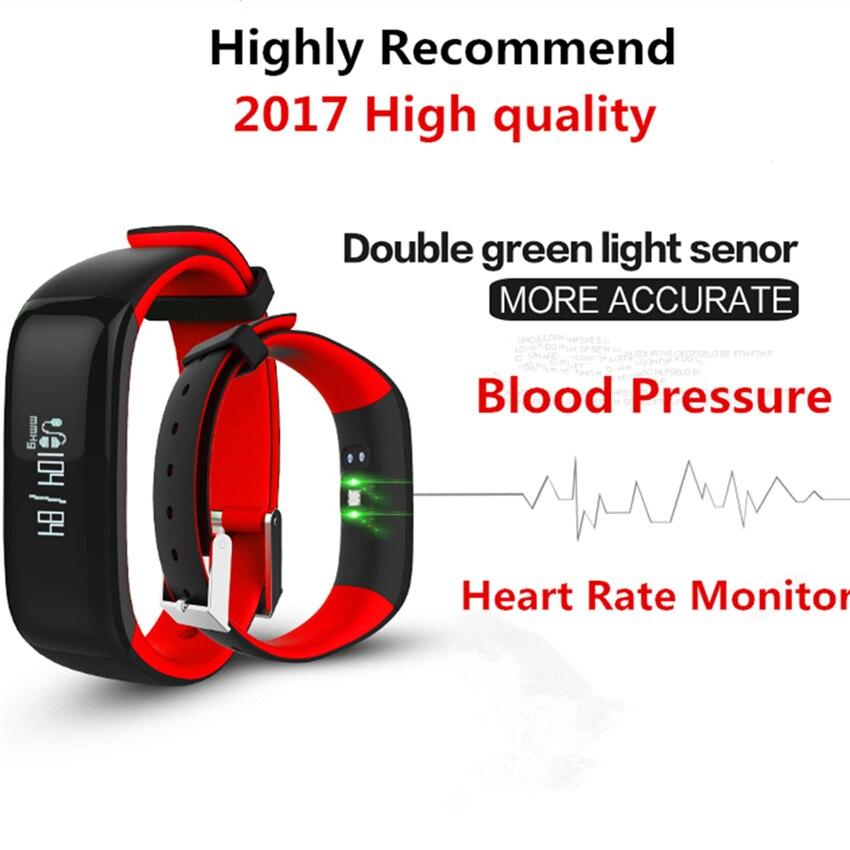 imágenes para De alta calidad y Resistente Al Agua Deporte de la Aptitud Pulsera Inteligente Bluetooth P1 dispositivo Portátil Inteligente de Banda de Frecuencia Cardíaca y La Presión Arterial