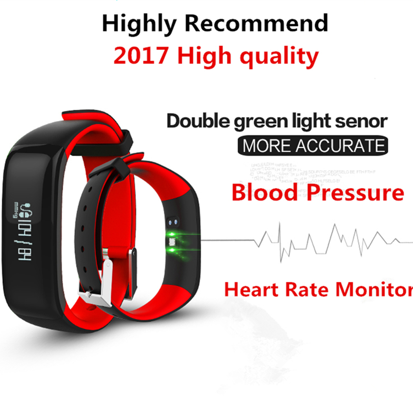 High quality and Waterproof Fitness Sport Smart Bracelet Bluetooth P1 Heart Rate