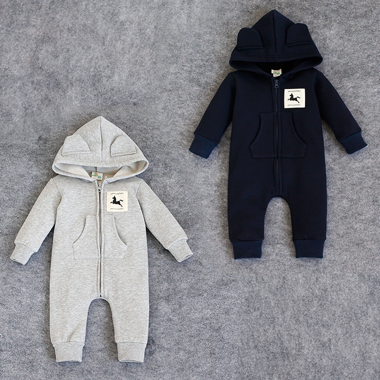 Fashion Newborn rompers bebes Baby boy Romper branded Newborn baby clothes cartoon fox long Sleeve Baby girl outfits Clothes newborn infant baby boy girl clothes long sleeve printing romper toddler baby cotton summer one piece outfits