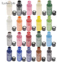 Lychee Life 30ML DIY Leather Edge Paint Oil Dye Highlights Professional 20 Colors Watercolor Paint Liquid Leather Craft