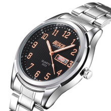 BOSCK 3033 new luxury men s watches wrist watches high end brands double calendar display boxy