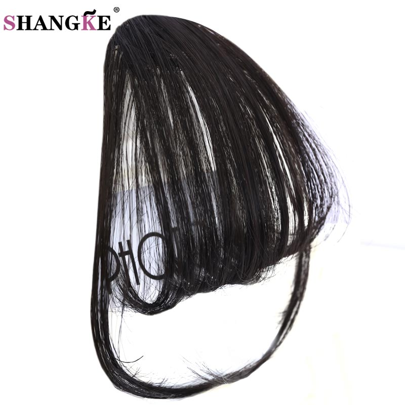 SHANGKE Heat Resistant Synthetic Natural Short Fake Bangs Women Hair Pieces