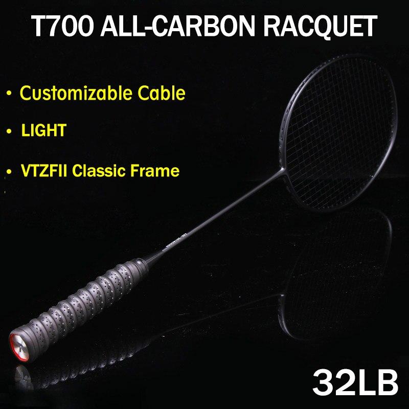 Raquette de Badminton cordée 4U 80g raquette de Badminton professionnelle en carbone