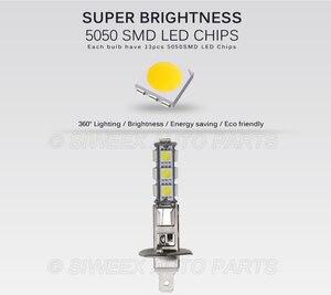 Image 2 - 1 個ビッグプロモーション H1 ハイパワー 13 SMD 5050 LED 電球ホワイト車の自動車ヘッドライトヘッドライトランプ DC 12V