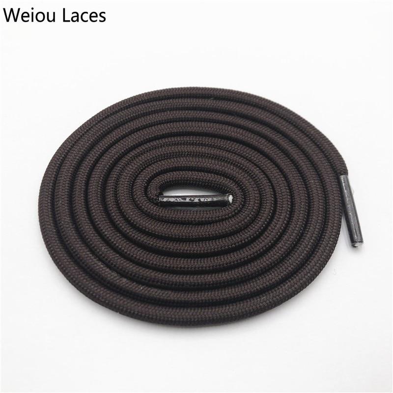 Weiou 0,5 см круглые спортивные шнурки из полиэстера толстые походные шнурки одежда веревка для скалолазания шнурки для ботинок Детские мужские - Цвет: 2714Coffee