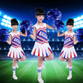 Kids Football Cheerleader Costume Child Aerobics Gymnastics Leotards Girl Cheerleading Uniforms Performance Costumes Suits 89