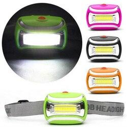 Drop shipping Outdoor Camping Night Fishing 4 Modes Waterproof Headlight Head Flashlight Torch Lanterna Mini COB LED Headlamp
