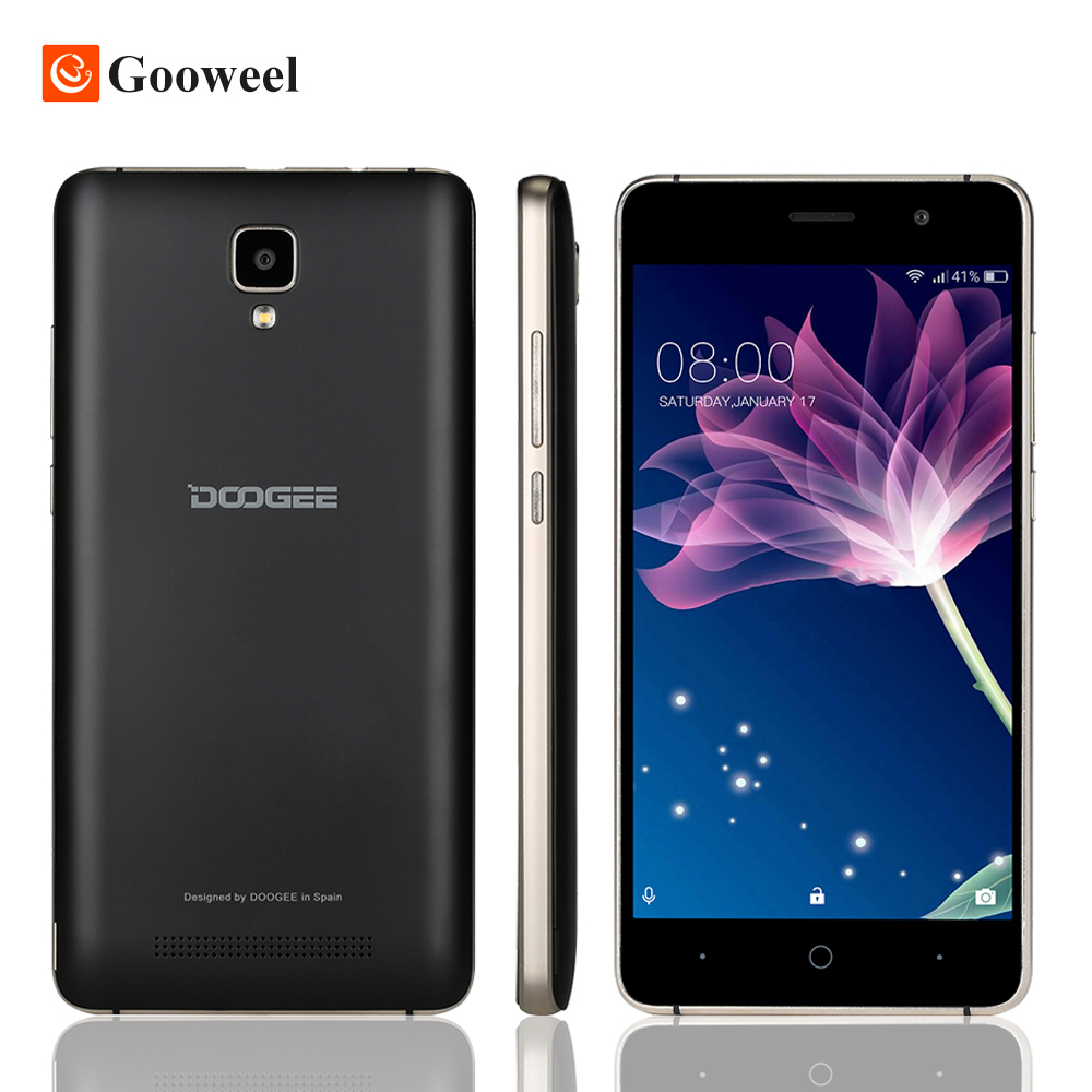 Original Doogee X10 Smartphone 3G WCDMA 5 0 Android 6 0 MTK6570 Dual Core Cell phones