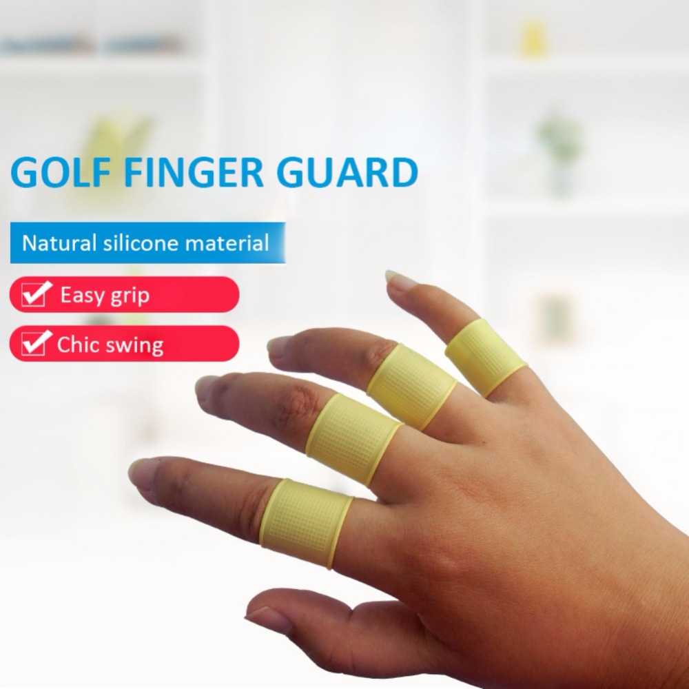 8pcs/set Multi Color Golf Finger Toe Silicon Support Sleeve Protector Grip Grey For Men Women