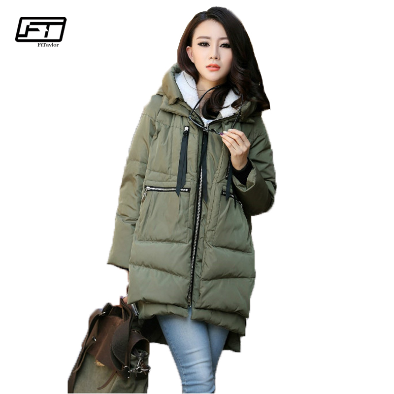 Fitaylor Winter Jacket Women Cotton Padded Loose Thick Hooded Parkas Plus Size Warm Winter Coat fitaylor winter jacket women coats plus size thick cotton coat hooded parkas women winter coat warm long 3xl 4xl 5xl overcoat