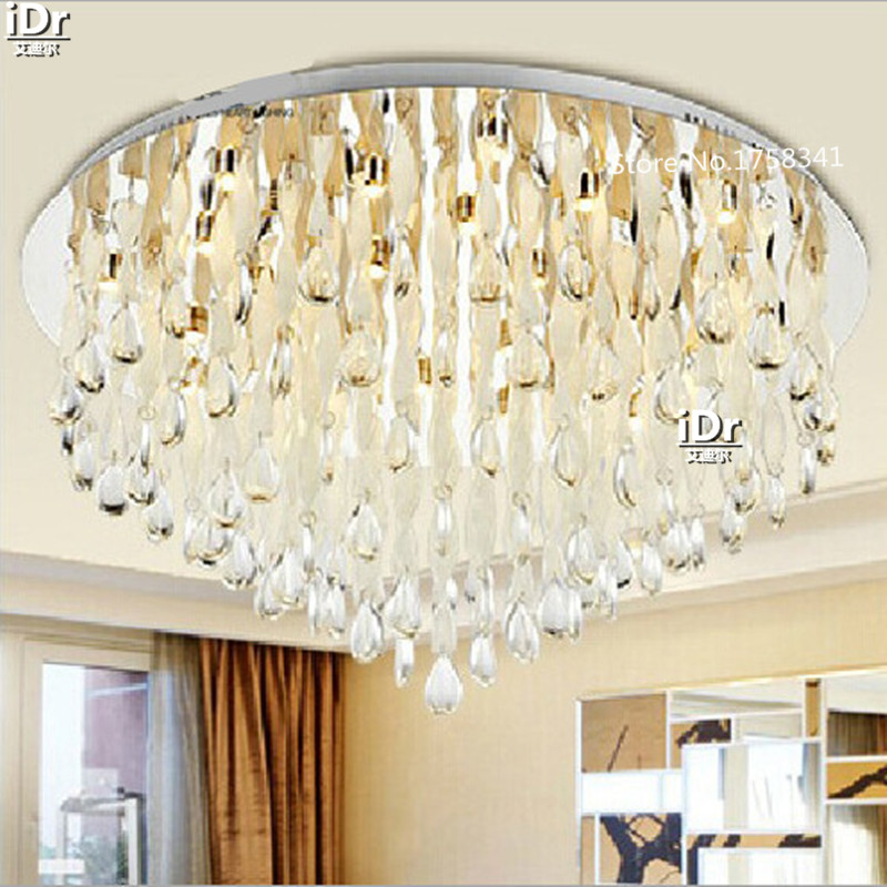 Crystal lamp living room led ceiling lights, circular, simple and stylish modern luxury bedroom lamp restaurant lighting modern simple oval bedroom lighting living room crystal ceiling lamp creative restaurant dining room led crystal hanging lamps