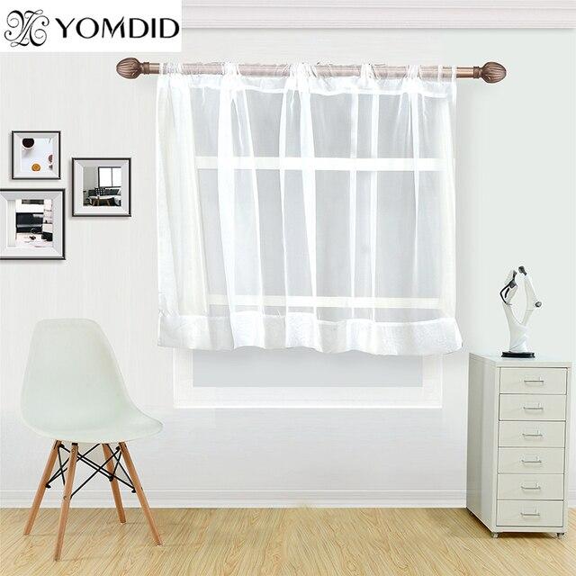 Bianco tenda caffè per la cucina mezza finestra tende di tulle cucina rustica so