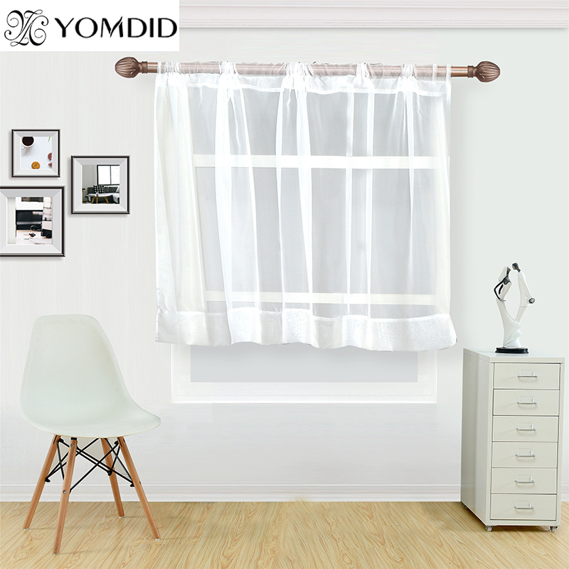 US $3.82 39% OFF|White coffee curtain for kitchen half window tulle  curtains rustic kitchen Living room curtains Europe style short panel  cortina-in ...