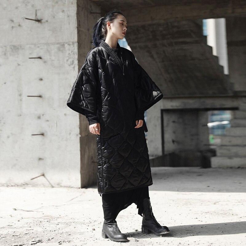 Coton Harajuku Manteau cou Mode Veste Personnalité Parkas Nouvelle Noir Femmes Jq512 V Black Argyle Ceinture Long Dames Femelle Ouatée Hiver tq0zxvYvw
