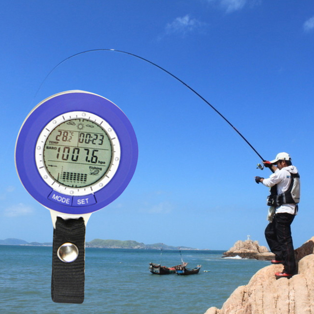 Fishing barometer multi function lcd digital outdoor for Barometric pressure forecast for fishing