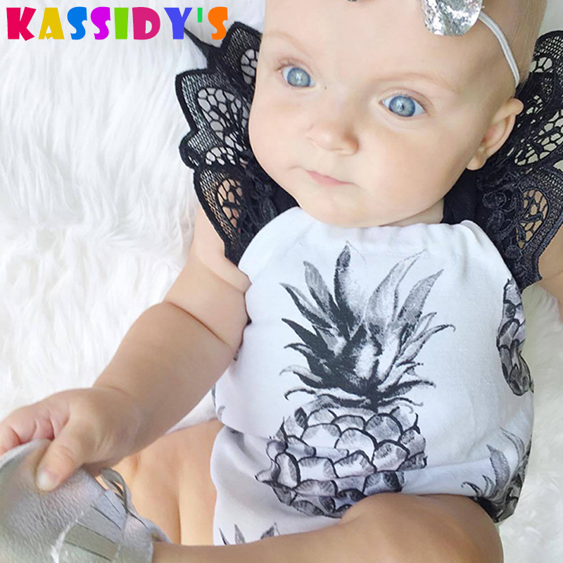 KASSIDYS Summer Lace Baby Girl Rompers One Pieces Jumpsuits Roupas De Bebe Infant Outfit Princess Skirt Toddler Girls Clothes