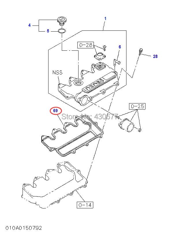 Gasket Head Cover;ISUZU 8 97065547 2;3LA1/3LB1-in Cylinder Head from