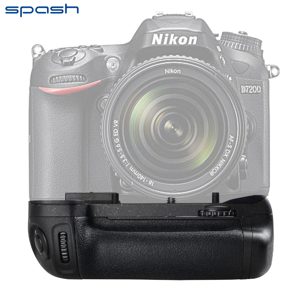 spash Multi power Vertical Battery Grip for Nikon D7100 D7200 Replacement for MB D15 Battery Handgrip