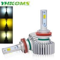 YHKOMS Canbus H8 H11 Fog lights 3000K 4300K 6500K h7 LED Headlight HB3 9005 HB4 H3 80 881 H27 LED H1 Auto Headlamp 8000LM 12V