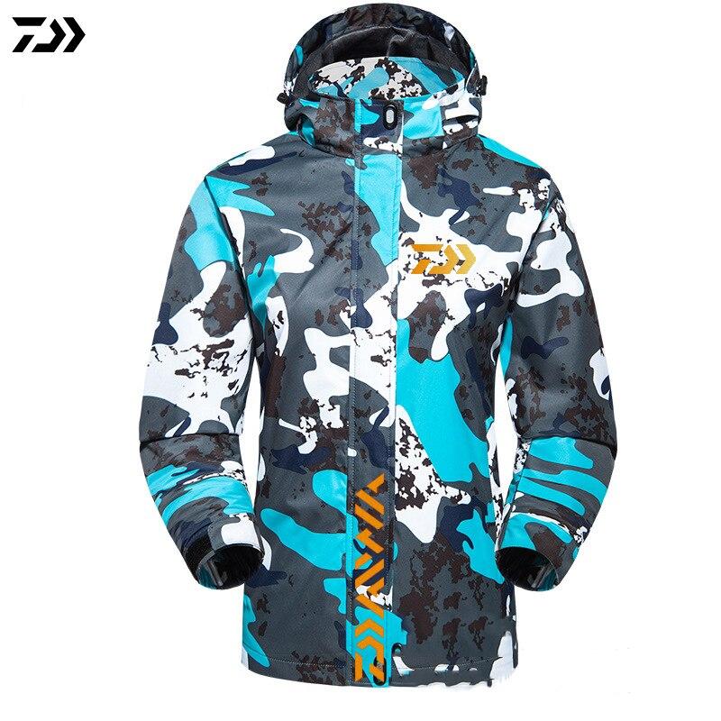 Printemps été Daiwa coupe-vent vestes de pêche respirant séchage rapide imperméable à capuche grande taille Camping en plein air veste de pêche