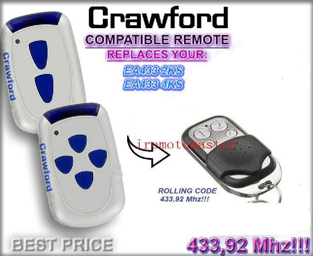 Aftermarket Crawford Remote EA433 2KS,EA433 4KS Replacement Garage Door Remote DHL Free Shipping
