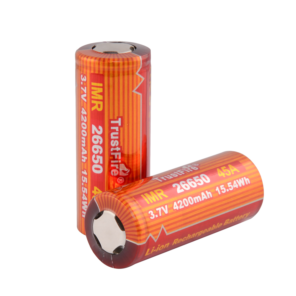 8pcs/lot TrustFire IMR 26650 Battery 4200mAh 3.7V 45A 15.54Wh High-Rate Rechargeable Li-ion Battery for E-cigarette