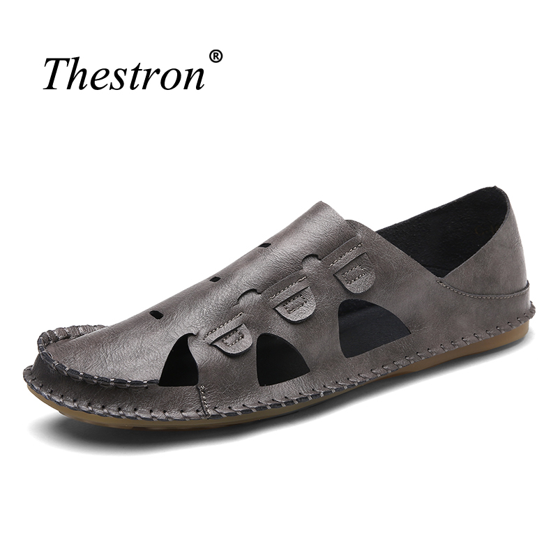 New Hole Shoes Breathable Men Sandals Summer 2018 White Sandals for Male Lightweight Sandals Mens Leather Shoes