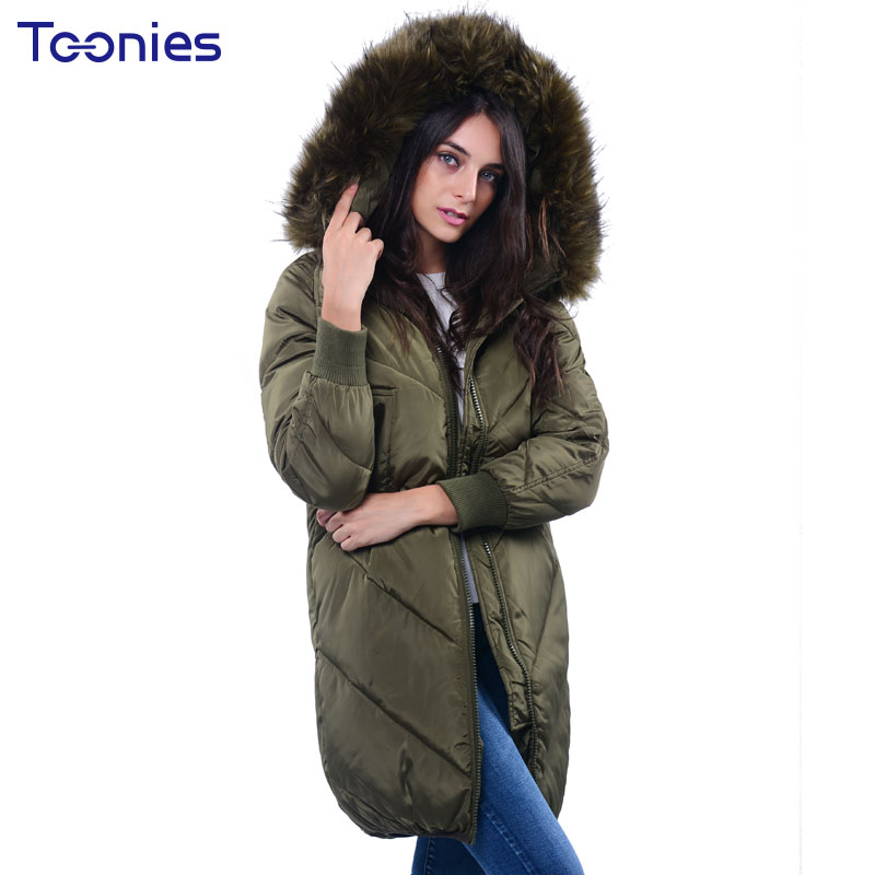 Wadded Jackets 2017 Winter Faux Fur Hooded Coats Basic Jackets Thickening Warm Cotton Padded Coat Long Parkas for Women Parka children winter coats jacket baby boys warm outerwear thickening outdoors kids snow proof coat parkas cotton padded clothes