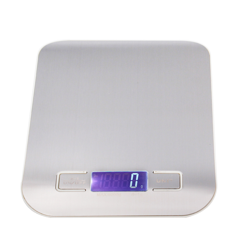 BY DHL Fedex 100pcs 5kg 1g digital kitchen scale cooking Household measure tools stainless steel 5000g