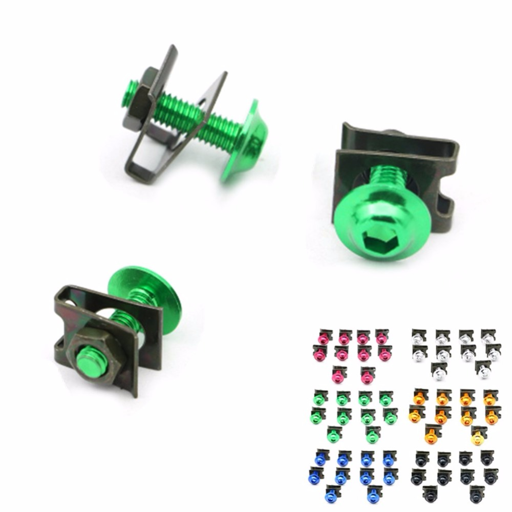 10pcs 6mm Fairing Bolts Spire Speed Fastener Clips Screw Spring Nuts For Aprilia RS50 RS250 ETV1000 Dorsoduro 750 1200 RSV Mille